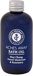 Aches Away Bath Oil (May Chang, Rosemary and Sweet Marjoram) Handmade/Natural/Vegan/Made with Jojoba Seed Oil, Sunflower S...