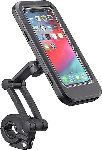 Bike Phone Mount Waterproof Cell Phone Holder 360 Rotation Motorcycle Phone Case