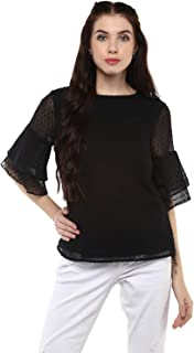 Harpa Round Neck Self Design Top