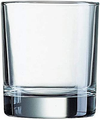 Luminarc N7516 Islande - Vaso refrigerador de 16 onzas, Empaque estándar, Transparente, Short Glass, Set of 4, 1
