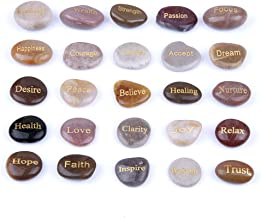 stones with words on them