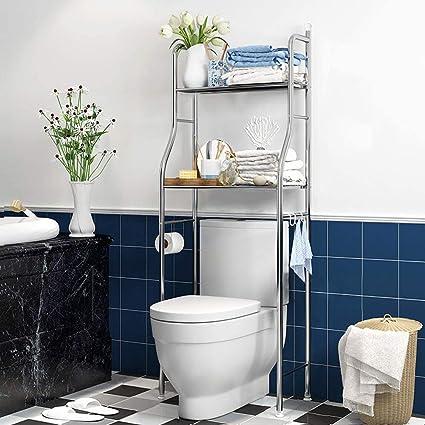 C&JQ Estanteria Baño Encima WC,Baño Estante para Inodoro ...