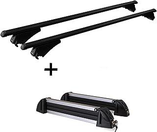 Relingtr/äger Tiger Stahl L Skitr/äger//Snowboardtr/äger//Skihalter Alu 4 Paar Ski kompatibel mit Opel Vectra Kombi 2002-2008