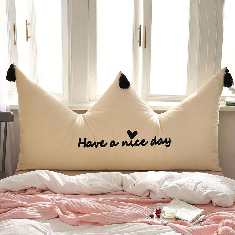 WXFO Couronne Oreiller lit Oreiller Simple Chambre à Coucher Moderne Sac Souple Sac de lit Princesse Vent Grand Dos (Couleur   C, Taille   150cm)