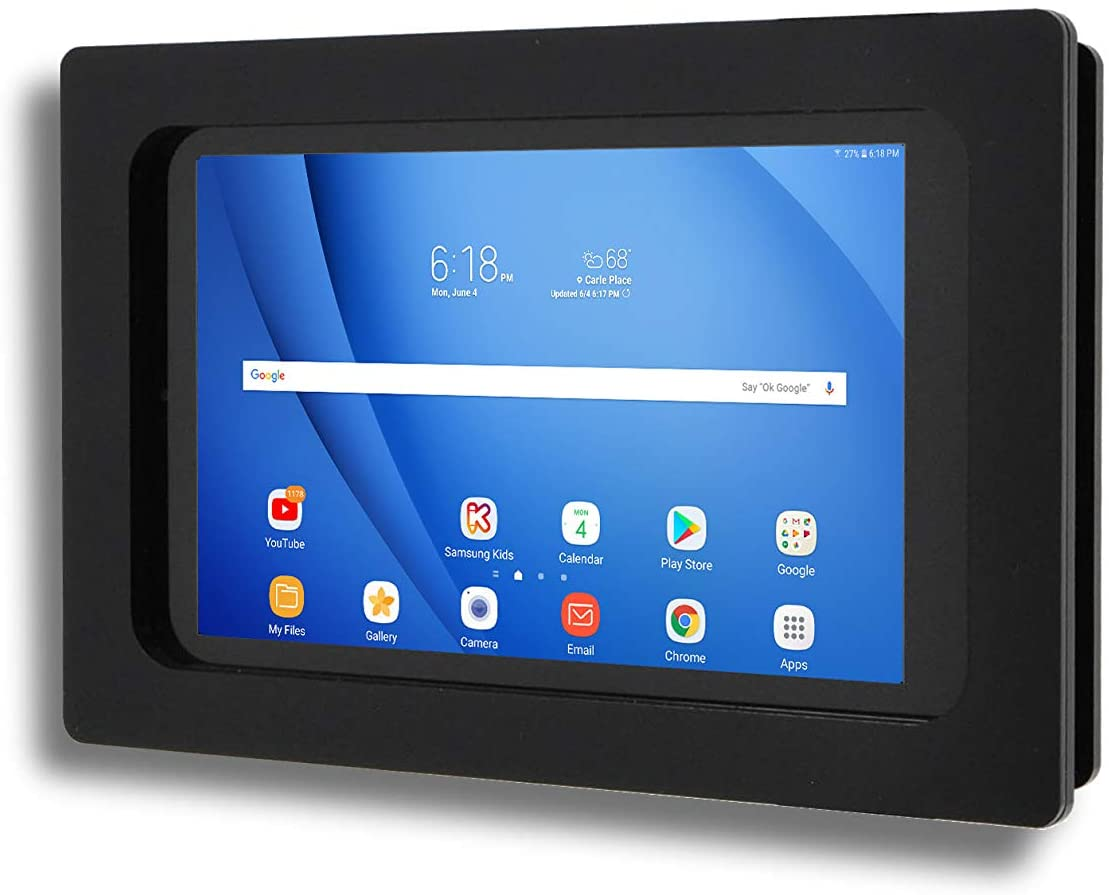 TABcare Security Anti-Theft Acrylic VESA Enclosure for Samsung Galaxy TAB A 10.1 2019 SM-T510 with Wall Mount Kit (Black, TAB A 10.1 2019)