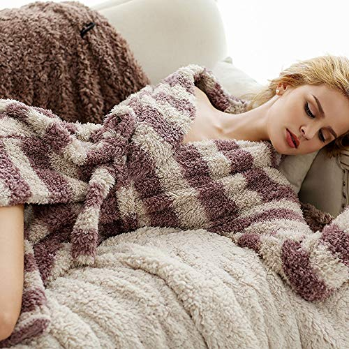 YTNGA pyjama mannen en vrouwen unisex streep paar liefhebbers zachte microvezel slaapmode pyjama met broek set Twinset Lounge Set