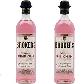 """Broker""""s Gin aus Großbritannien 2er Sparpack Broker""""s Pink Gin 40% vol 2 x 0,7 Liter"""
