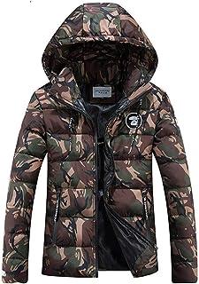 [ダーセン] メンズ 迷彩柄 ダウンジャケット 中綿 ユニセックス 棉服 フード付き 防寒ジャケット 子供 防寒服 ダウンコート カジュアル 通勤 暖かトップス