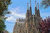 España Basílica de la Sagrada Familia Barcelona Rompecabezas para Adultos 1000 Piezas Regalo de Viaje de Madera Recuerdo-Pt-02399