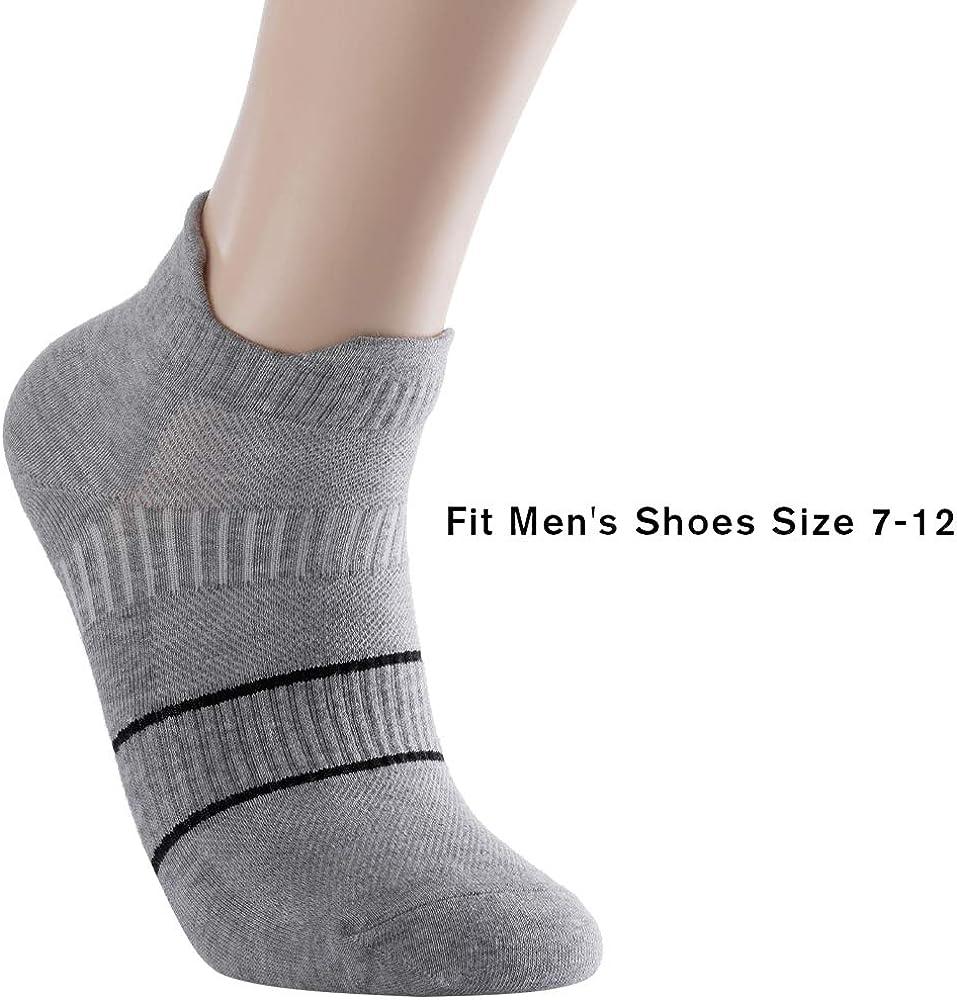 Mens Anti Sweat Stink Free Odor Resist Quick Dry Sports Quarter Crew Low Cut No Show Running Socks
