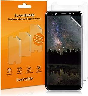 kwmobile 3x pellicola salvaschermo compatibile con Samsung Galaxy A6+/A6 Plus (2018) - Film protettivo proteggi telefono -...