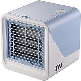 Aire Acondicionado Refrigerador De Aire Personal, Acondicionador Evaporativo Portátil Con 3 Velocidades De Viento Pantalla Táctil Ventilador De Escritorio Pequeño, Escritorio Silencioso De Aire Frío,A