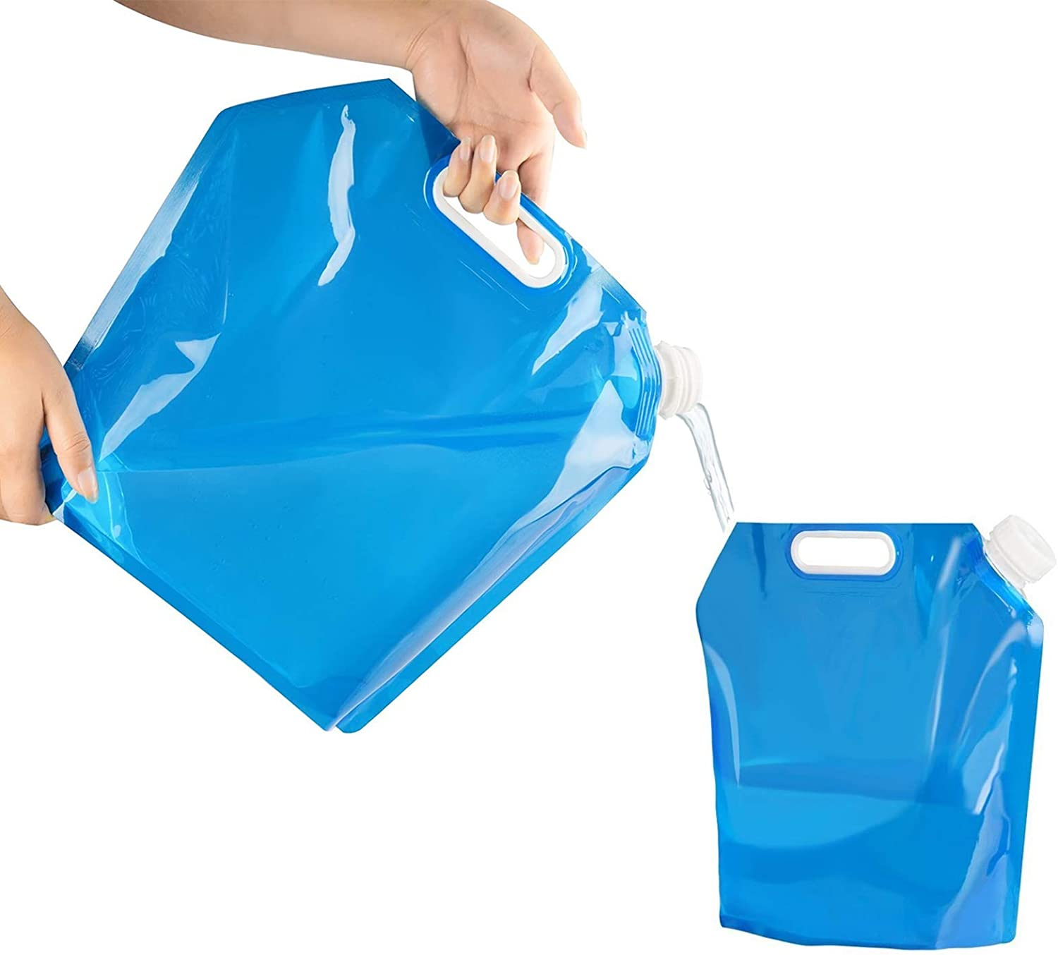 Water Bags Storage 5L 10L Collapsible Water Container Foldable Portable for Camping, Hiking, Picnic, Travel, BBQ : Sports & Outdoors