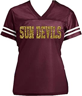 a6ce8a7ad Sun Devils ASU - or choose any school or team name - Customizable Ladies  Glitter Jersey