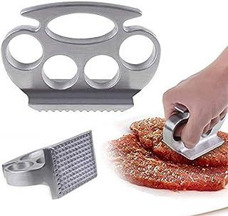 YUY Práctico Ablandador De Carne Knuckle Pounder Tenderizer Duster Grill Herramientas De Cocina,Silver