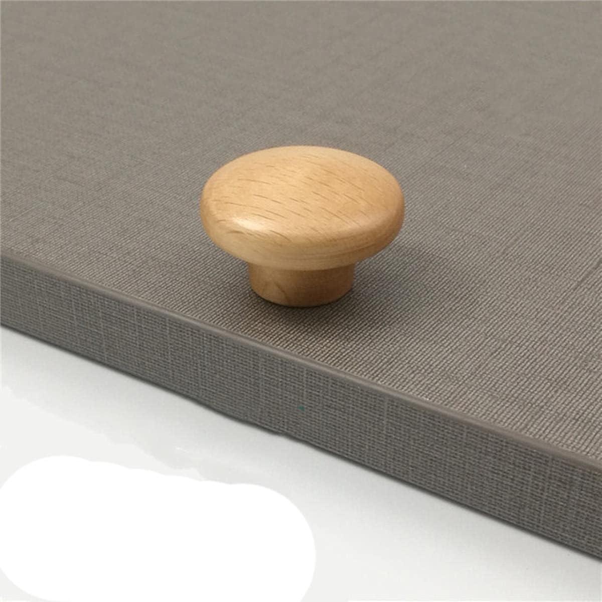 1 Uds., Manija de muebles de gabinete de cocina, manija de madera maciza natural para armario, puerta, cajón, tiradores, perillas-C3