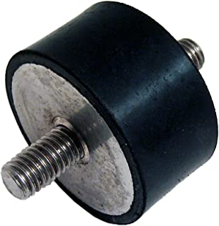 Pack of 5 J.W Winco Inc. 30mm Height Metric Size JW Winco 351-40-30-M8-ES-55 Series GN 351 Rubber Type ES Cylindrical Vibration Isolation Mount with 1 Tapped Hole and 1 Threaded Stud 40mm Diameter
