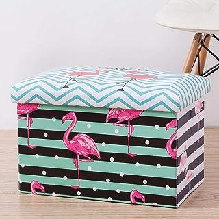 Panier À Linge Sale Corbeilles À Linge,Rayures Flamingo Avec Couvercle Multifonctionnel (Paniers À Linge Sac De Rangement ...