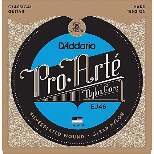 D'Addario EJ46 - Juego de Cuerdas para Guitarra Clásica de Nylon (Tensión Alta), Transparente, Un conjunto único