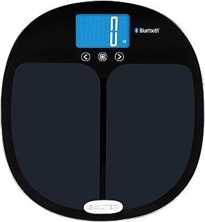 Salter Bascula De Baño Digital Analizadora Conectada Con Bluetooth, Sigue Su Progreso En Su Teléfono Con La App, Peso, Grasa, Porcentaje De Agua Corporal, Masa Muscular, Imc, Bmr Hasta 200 Kg