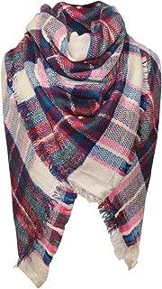 Cckuu Tassels Plaid Blanket Scarf Women Girl Stylish Warm Gorgeous Wrap Shawl