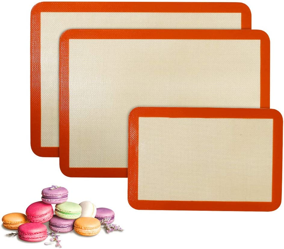 NEW before selling ☆ Silicone Baking Mat Set of 3 2 5 ☆ very popular 1 Sheet and Sti Non Quarter Half