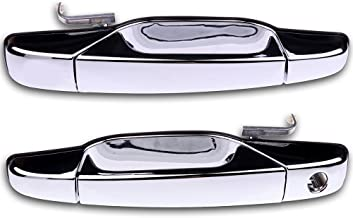 ECCPP Door Handles Chrome Exterior Front Driver Passenger Side for 2007-2013 Chevy GMC Cadillac(Pack of 2)