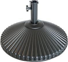 Abba Patio 50 lbs Round Patio Umbrella Base Recyclable Plastic 23.4 inch Diameter Outdoor Umbrella Stand Holder, Black