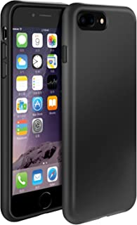 iPhone 7 Plus Case/iPhone 8 Plus Case,iPhone 6/6s Plus Case,Manleno Slim Fit Full Coverage 2.0mm Shockproof Protective Matte Cover Flexible TPU Rubber Gel Case for iPhone 6/6s/7/8/ Plus (Matte Black)
