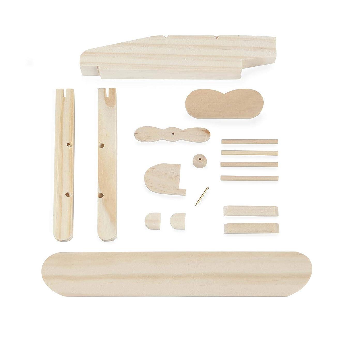 Bulk Buy: Darice DIY Crafts Wood Model Kit Pontoon Plane (6-Pack) GC100