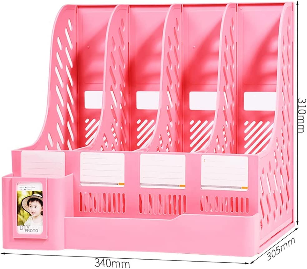Hxsnh Desk File Organiser Free shipping anywhere in the Industry No. 1 nation Plastic F Frames Holders Magazine Mesh