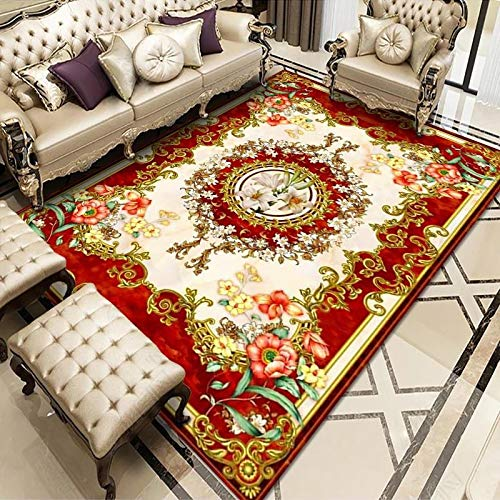 ZAZN Non-Slip Thick Carpet Wear-Resistant Washable Material Household Printing Large Carpet Living Room Full Coffee Table Sofa Cushion