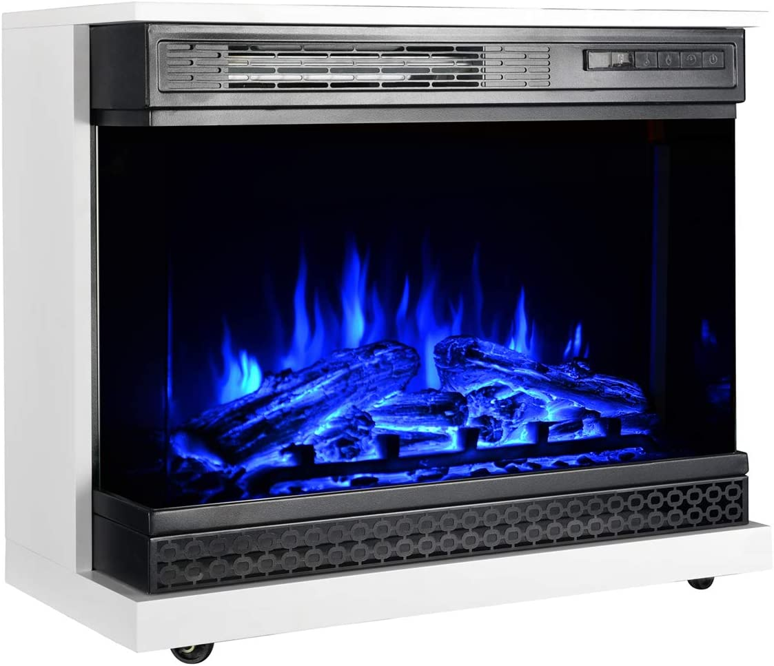 GMHome 25 Inches Very popular! Portable Electric Standing Fireplace Mesa Mall Free Heate