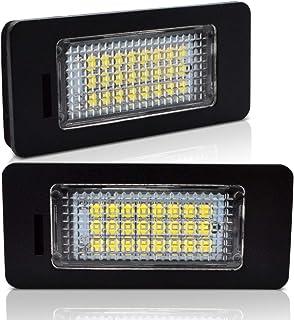 LncBoc LED Luz de la matrícula para coche Lámpara Numero plato luces Bulbos 3W 12V 24SMD con CanBus No hay error 6000K Xenón Blanco frio para Q5 A1 A4 A5 A6 A7 RS5, 2 Piezas