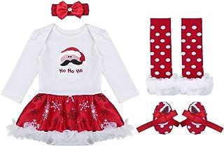 848018570 iiniim Conjunto de Navidad para Bebé Niña Recién Nacido Vestido Manga Larga  Princesa Traje Ropa Infantil