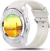 Smart Horloge Mannen Bluetooth Sport Horloges Vrouwen Dames Rel Gio Smartwatch met Slot PK (Kleur: Zwart) -Wit