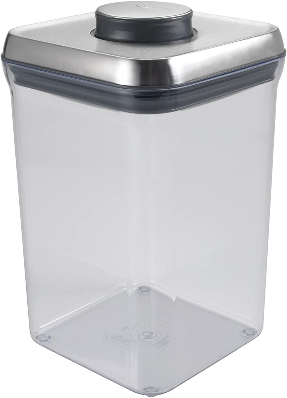 OXO SteeL POP 4-Quart Square Container (Set of 4)