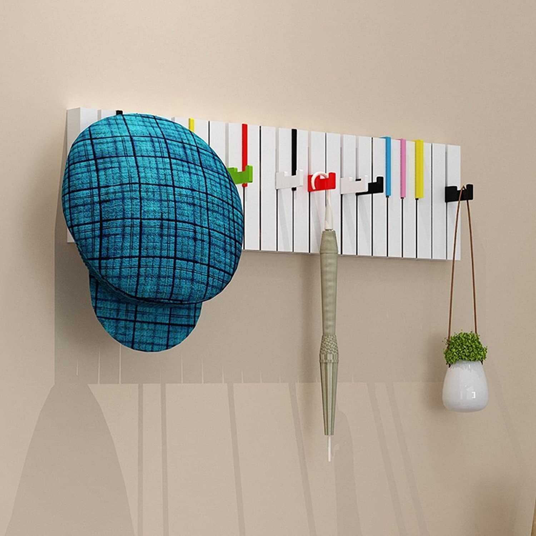 Household Coat Rack Coatrack Coat Rack Wall Hanger Creative Piano Hanger Entrance Hall Shelf Hatstand (color   B)