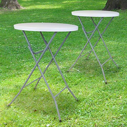 SKYLANTERN Lot de 2 Tables Hautes Mange Debout Pliante Grand Plateau 80 cm - Hauteur 1,10M - Table Pliante Mange Debout Grande Capacité idéal pour Cérémonies