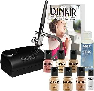 The Original: Dinair Airbrush Makeup Natural Summer Time Look Starter Kit   Fair Shades   Foundation Set!
