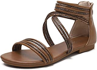 Sponsored Ad - Huntarry Women Pull On Slingback Thong Flat Sandals Clip Toe Classic Casual Walking Summer Shoes