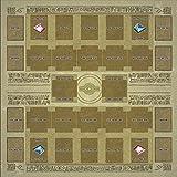 Tapis de bureau d'ordinateur antidérapant, Tapis de jeu en caoutchouc 60x60cm Tapis de concours de style mural Egypte carte Yu-gi-oh Puzzle
