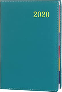 2020 Academic Planner, Weekly & Monthly Planner with Calendar Stickers, 12 Monthly Tabs and 288 Pages, PU Leather Cover, 5