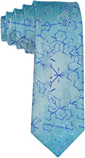 Blue Trippy Necktie for Men, Casual Gentleman Tie Necktie, Suit Accessories Ties