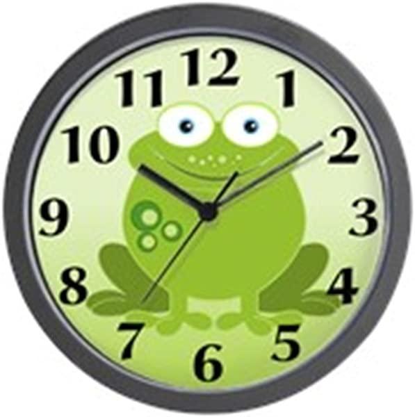 CafePress Green Frog Unique Decorative 10 Wall Clock