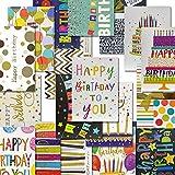 18pcs Biglietto Auguri Compleanno,Set Con Buste e Pagine di Inserimento, Buon Compleanno Carte per Bambini, Ragazze e Ragazzi, Amici o Colleghi
