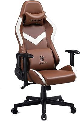 Dowinx ゲーミングチェア/オフィスチェア 事務用椅子 ヨーロッパデザイン レトロ 栗皮色 クラシック 腰痛対策 肩こり解消 リラックス 勉強用 デスクチェア ランバーサポート付き 3Dひじ掛け 高さ調整機能 LS-6668T03 栗皮色