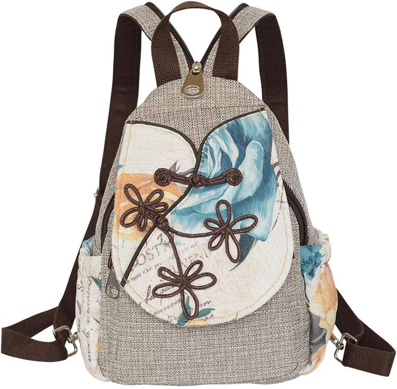 BAG Lssige Rucksack-Brusttasche der ethnischen Art des Rucksackrucksackfrauen der Frauen Studententasche