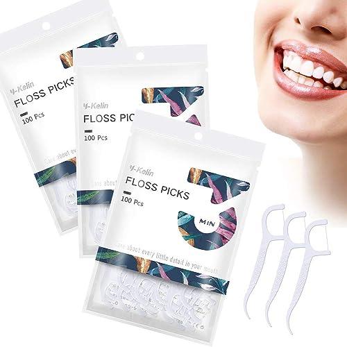 Soie dentaire-300 pièces cure-dents de soie dentaire, bâton de dents, cure-dents, cure-dents, nettoyage des dents(300...