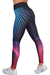 DELEY Donna Funky Digitale Stretch Stampati Pantaloni Stretti Leggings
